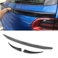 3PCS Rear Middle Spoiler Wing Fit For Porsche Macan 14-16 Factory Carbon Fiber