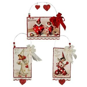 Valentine Ornament Vintage Style Postcard Bethany Lowe (Sold Individually)