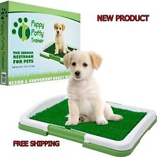 PETMAKER Puppy Potty Trainer Restroom Indoor Grass Mat Pets Dog Pee Safe Tray