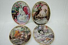 Decorator Bradford Exchange 1997 Classic Elegance Plates Cat Set of 4 issues