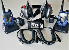 RACE RADIO ADD A CREW COMPLETE DUAL PTT  DUAL UV-5R PLUS