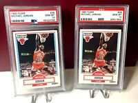 Lot of x2 1990 FLEER #26 MICHAEL JORDAN,  CHICAGO BULLS, HOF, PSA 10 GEM MINT