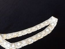 Antique Lace Sewing Trim Edging Flounce Fabric Remnant Doll Clothes Linens