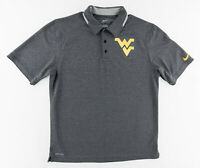 Nike Dri-Fit Mens Medium WVU West Virginia University Mountaineers Polo Shirt