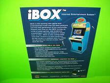 Lazertron iBOX Original NOS Video Arcade Game Promo Sales Flyer Advertising.