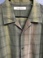 🌴☀️Tommy Bahama Men's Casual Button Down Shirt Large L Plaid 🌴☀️