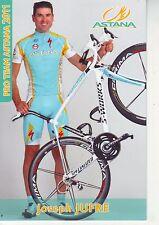 CYCLISME carte  cycliste JOSEPH JUFRE équipe ASTANA 2011