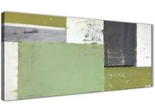 VERDE Grey Pittura Astratta Tela Wall Art Foto-moderno larghezza 120 cm - 1337