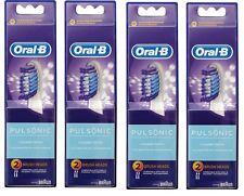 8 x Oral-B Pulsonic Refills Brush Heads CLEANER TEETH+ 100% Genuine & Brand New