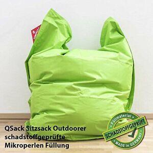 QSack Outdoor Sitzsack XXL, Toxproof Mikroperlen, schadstoffgeprüft, 140x180 cm