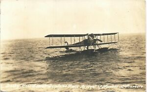 Scarborough. Daily Mail £5,000 Waterplace Race. Arrival of Hawker. Aviation.