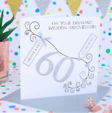 Personalised Handmade 60th Diamond Wedding Anniversary Card
