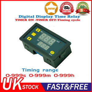 DC 12V Infinite Cycle Delay Timing Timer Relay ON OFF Switch Loop Module Digital