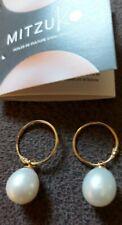 MITZUKO Freshwater Pearl Drop 9ct Gold Earrings. BNIB. RRP £280
