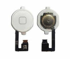 New Replacement home menu button Key with Flex Cable For iPhone 4 4G White