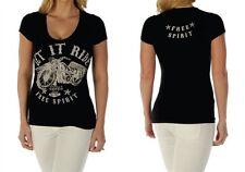 Women's Soft Motorcycle Tee - V-neck T-shirt, Biker, Sparkle, Bling