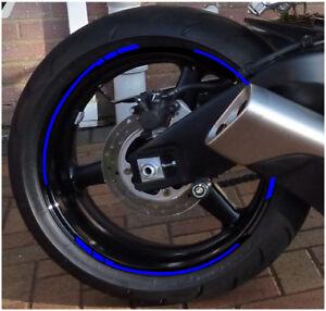 "14 RIM RACING CHECKS to fit FIREBLADE SP PAN VFR RVF CBR RR 15""-18"" wheel BLUE"