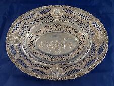 Decorativa anbiet-cáscara-Putten + floraler decoración-reliefiert - 835er plata