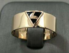 Vintage 10k Gold Masonic Ring - Virtus Junxit Mors Non Separabit - Size 12 1/4