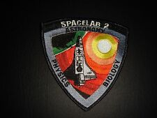"""NOS NASA SPACE SHUTTLE ERA """"SPACELAB 2 ASTRONOMY-PHYSICS-BIOLOGY"""" SEW ON PATCH"""