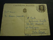 CARTOLINA POSTALE DA 30 CENT. PER MILITARE REGIO ESERCITO PIETRA LIGURE - C7-388