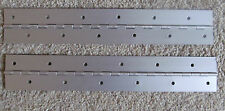 "A Pair 2 Aluminum Anodized Clear Piano Hinge 1""x 1""x 12"" 20 Gauge RV Boat"