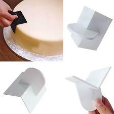Icing Fondant Scrapers Sugarcraft Cake Decor Smoother Paddle Polisher Baking US