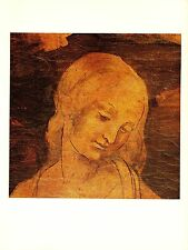 "1974 Vintage LEONARDO DA VINCI ""DETAIL - ADORATION MAGI"" COLOR offset Lithograph"