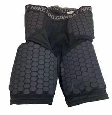 Nike Pro Combat Boys Padded Football Shorts Sz M Black Compression Base Layer