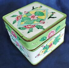 "Chinese Cantonese Enamel Box 3"" sq."