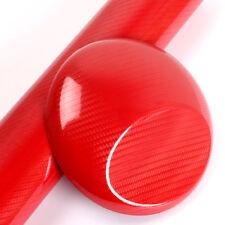 "12""x60"" 5D Ultra Shiny Gloss Glossy Red Carbon Fiber Vinyl Wrap Sticker Decal"