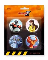 SD TOYS DYNAMIC MAZINGER Z MAZINGA PINS SPILLE 4 PACK NUOVE NEW SET A