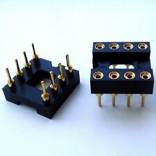 20x DIP-8 / 8 Pin Gold-Plated Socket, for OPAMP or EEPROM