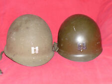 ORIG. US 5th ARMY CAPTAIN 554th Engineer Bn STEEL HELMET w Chin Strap & LINER