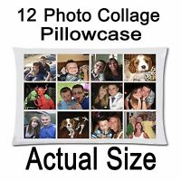 Personalised Pillow Case printed photo 12 Photo collage