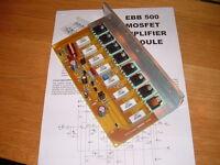 EBB 500 Mosfet Amplifier Module 500W RMS Audio Disco PA  Power Amplifiers