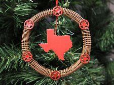 Texas Cowboy-Western Wreath Christmas Ornament