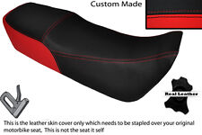 RED & BLACK CUSTOM FITS HONDA MBX 80 79-82 DUAL LEATHER SEAT COVER ONLY