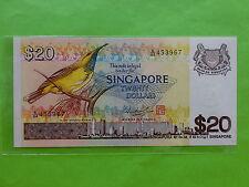 Singapore $20 Bird 1979 (PERFECT UNC), 2 pcs running no, (Mr Hon Sui Sen & Seal)