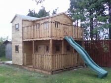 wooden deluxe playhouse  / wendy house heavy duty upstairs verande