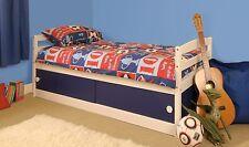 Storage Bed Kids Pink or Blue (Mattress Option) White wash 3ft Single Solid Pine