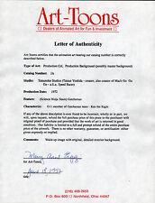Science Ninja Team Gatchaman I, Ken The Eagle Animation Cel w Letter Coa