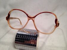 Vintage NOS Riviera Circe 70s 80s Retro Eye Glasses- Amber Pink Very Cool
