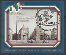 2011 VATICANO 150° ANN. UNITA' ITALIA CONGIUNTA FDC