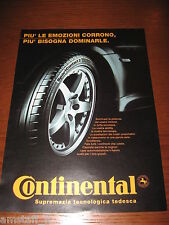 *AL37=CONTINENTAL PNEUMATICI=PUBBLICITA'=ADVERTISING=WERBUNG=COUPURE=
