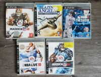 PS3 Playstation 3 Games- LOT of 5 Baseball, Basketball, Football, Blazing Angels