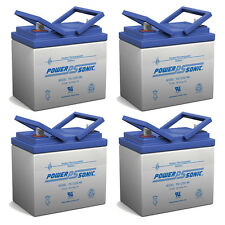 Power-Sonic 4 Pack - 12V 35AH SLA Battery for Doorking Power Inverter 1000