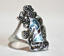 Unicorn Ring, red and blue turquoise, sizes  5-10