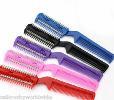 1x  Razor Hair Comb Hairdressing Thinning Trimmer random color