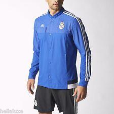 Adidas REAL MADRID ANTHEM JACKET spain Track jersey soccer Sweat shirt~Men sz XL